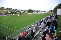 A general view from the terraces during the Chatham Cup football match between  Miramar Rangers and Dunedin Technical at David Farrington Park, Wellington, New Zealand on Sunday, 22 July 2012. Photo: Dave Lintott / lintottphoto.co.nz