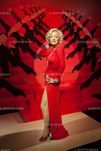 A wax figure of Marilyn Monroe, American actress, model and singer on display at the Madame Tussauds Tokyo wax museum in Odaiba, Tokyo, June 15, 2015. The world famous British wax museum ''Madame Tussauds'' opened its 14th permanent branch in Tokyo in 2013 and exhibits international and local celebrities, sports players and politicians. New additions to the collection include wax figures of the Japanese figure skater Yuzuru Hanyu and the actor Benedict Cumberbatch. The wax figure of Benedict Cumberbatch will be exhibited until June 30th. (Photo by Rodrigo Reyes Marin/AFLO)