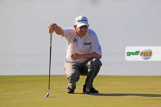 Peter Lawrie (IRL) on the 17th green during Thursday's Round 1 of the Portugal Masters at the Oceanico Victoria Golf Course, Vilamoura, Portugal 10th October 2012 (Photo Eoin Clarke/www.golffile.ie)