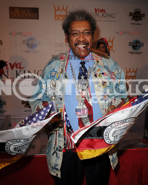 HOLLYWOOD FL - JUNE 22 : Don King arrives at his 80th birthday celebration at Hard Rock live held at the Seminole Hard Rock Hotel &amp; Casino on June 22, 2012 in Hollywood, Florida. &copy;&nbsp;mpi04/MediaPunch Inc NORTEPHOTO.COM<br />