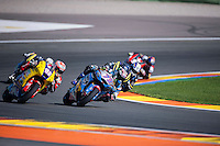 VALENCIA, SPAIN - NOVEMBER 8: Alex Marquez, Ricard Cardús during Valencia MotoGP 2015 at Ricardo Tormo Circuit on November 8, 2015 in Valencia, Spain