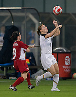 Diana Matheson, Lori Chalupny. The USWNT defeated Canada in extra time, 2-1, during the 2008 Beijing Olympics in Shanghai, China.