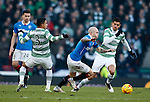 Nicky Law gets away from Emilio Izaguirre and Nir Biton