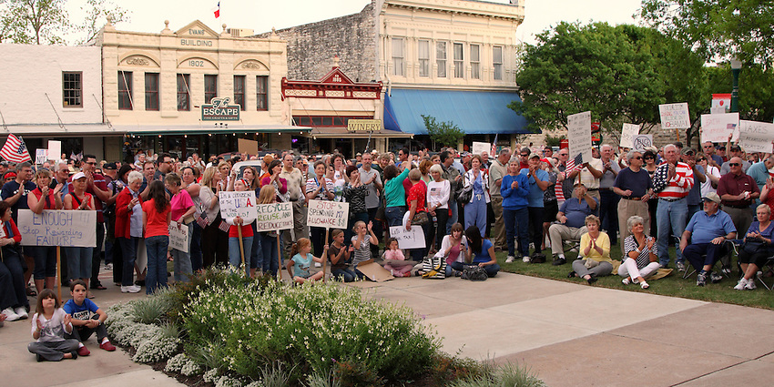 Georgetown Texas on the town square.