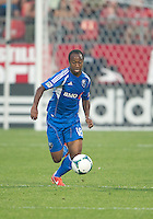 July 3, 2013: Montreal Impact midfielder Collen Warner #18 in action during an MLS game between Toronto FC and Montreal Impact at BMO Field in Toronto, Ontario Canada.<br /> The game ended in a 3-3 draw.