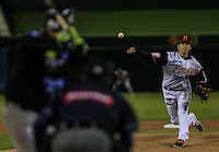 Wilmer  Rios pitcher abridor de Naranjeros, durante el tercer juego de la Serie entre Tomateros de Culiacán vs Naranjeros de Hermosillo en el Estadio Sonora. Segunda vuelta de la Liga Mexicana del Pacifico (LMP) **26Dici2015.<br /> **CreditoFoto:LuisGutierrez<br /> **<br /> Shares during the third game of the series between Culiacan Tomateros vs Orange sellers of Hermosillo in Sonora Stadium. Second round of the Mexican Pacific League (PML)