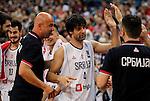 Kosarka FIBA Olympic Basketball Qualifying Tournament-FINAL<br /> Serbia v Puerto Rico<br /> Milos Teodosic (C) Nebojsa Ilic Stefan Markovic Nikola Kalinic Bogdan Bogdanovic<br /> Beograd, 09.07.2016.<br /> foto: Srdjan Stevanovic/Starsportphoto&copy;