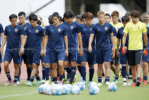 Japan National Team Group (JPN),  SEPTEMBER 5, 2016 - <br /> Football / Soccer : Japan training session ahead of the FIFA World Cup Russia 2018 Asian Qualifier <br /> Final Round match agansit Thailand at Rajamangala National Stadium, Bangkok, Thailand.<br /> (Photo by Yusuke Nakanishi/AFLO SPORT)