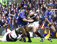 24/05/2002.Sport - Rugby Union - Parker Pen Shield Final..Alex Sanderson, charging through the mid field..   [Mandatory Credit, Peter Spurier/ Intersport Images].