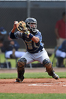 Tampa Bay Rays minor league catcher David Rodriguez (68) during an extended spring training game against the Boston Red Sox on April 16, 2014 at Charlotte Sports Park in Port Charlotte, Florida.  (Mike Janes/Four Seam Images)