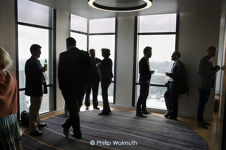Wired Money fintech event at Level39, which occupies the entire 39th floor of the iconic tower at One Canada Square, describes itself as Europe's largest accelerator space for finance, retail and future cities technology companies.  It is part of the London Tech City initiative, and was set up by the Canary Wharf Group in March 2013 to put high potential tech developers in the same space as influential technology buyers and investors.