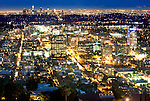 View of Glendale with downtown Los Angeles in background
