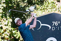 Justin Rose (ENG) in action on the 2nd hole during the second round of the 76 Open D'Italia, Olgiata Golf Club, Rome, Rome, Italy. 11/10/19.<br /> Picture Stefano Di Maria / Golffile.ie<br /> <br /> All photo usage must carry mandatory copyright credit (© Golffile | Stefano Di Maria)