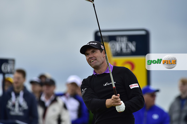 Padraig HARRINGTON (IRL) tees off the 13th tee during Friday's Round 2 of the 144th Open Championship, St Andrews Old Course, St Andrews, Fife, Scotland. 17/07/2015.<br /> Picture Eoin Clarke, www.golffile.ie