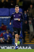 Mason Mount of Derby County, on loan from Chelsea, runs out onto the pitch for the pre-match warm up during Chelsea vs Derby County, Caraboa Cup Football at Stamford Bridge on 31st October 2018