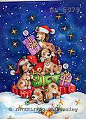 Interlitho, CHRISTMAS ANIMALS, paintings,+dogs,++++,4 dogs,bone,gifts,KL5979,#XA# Weihnachten, Navidad, illustrations, pinturas