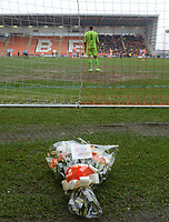 Flowers are laid in memory of Fred Pickering<br /> <br /> Photographer Kevin Barnes/CameraSport<br /> <br /> The EFL Sky Bet League One - Blackpool v Oxford United - Saturday 23rd February 2019 - Bloomfield Road - Blackpool<br /> <br /> World Copyright © 2019 CameraSport. All rights reserved. 43 Linden Ave. Countesthorpe. Leicester. England. LE8 5PG - Tel: +44 (0) 116 277 4147 - admin@camerasport.com - www.camerasport.com