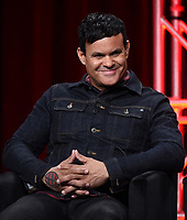 """BEVERLY HILLS - AUGUST 6: Co-Creator/Executive Producer/Writer Elgin James onstage during the """"Mayans M.C."""" panel at the FX Networks portion of the Summer 2019 TCA Press Tour at the Beverly Hilton on August 6, 2019 in Los Angeles, California. (Photo by Frank Micelotta/FX Networks/PictureGroup)"""