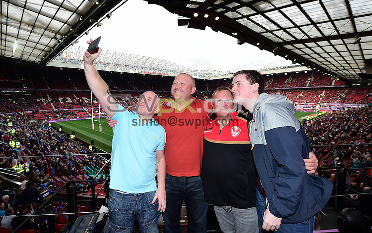 Picture by Alex Broadway/SWpix.com - 10/10/2015 - Rugby League - First Utility Super League Grand Final - Leeds Rhinos v Wigan Warriors - Old Trafford, Manchester, England - Best Seat in the House winner.