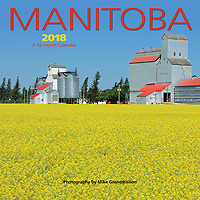 PRODUCT: Calendar<br /> TITLE: Manitoba Mini 2018<br /> CLIENT: Wyman Publications / Browntrout Canada