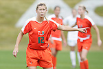 05 November 2008: Miami's Corynn Carino. The University of North Carolina defeated the University of Miami 1-0 at Koka Booth Stadium at WakeMed Soccer Park in Cary, NC in a women's ACC tournament quarterfinal game.