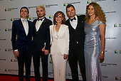 Sally Field, center, and, from left to right, guest of son, Armand De La Torre, son Samuel Greisman,  son Eli and wife, Sasha Craig arrive for the formal Artist's Dinner honoring the recipients of the 42nd Annual Kennedy Center Honors at the United States Department of State in Washington, D.C. on Saturday, December 7, 2019. The 2019 honorees are: Earth, Wind & Fire, Sally Field, Linda Ronstadt, Sesame Street, and Michael Tilson Thomas.<br />