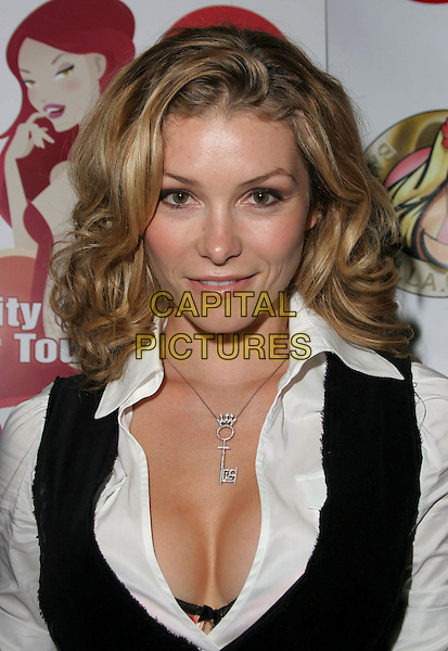 HEATHER VAN DEREN.2nd Annual Babes & Aces Charity Celebrity Poker Tournament to promote Breast Cancer Awareness held at Hollywood Park Casino, Los Angeles, California, USA..June 21st, .headshot portrait cleavage  .CAP/ADM/CH.©Charles Harris/AdMedia/Capital Pictures