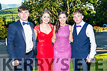 Enjoying the Killarney Schools Debs at Ballyroe Heights Hotel on Monday were l-r  Oisin O'Shea, Saoirse Holland, Ada Fleming and Eamon Lavin