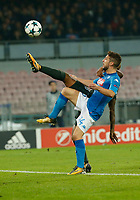 Dries Mertens  during the Champions League Group  soccer match between SSC Napoli - Manchester City   at the Stadio San Paolo in Naples 01 nov 2017