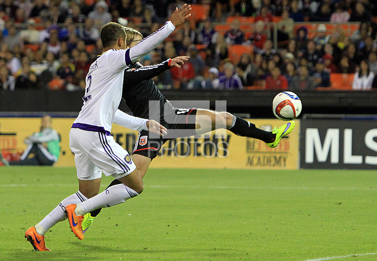Washington, D.C. - Wednesday, May 13, 2015: DC United defeated Orlando City SC 2-1 in a MLS match at RFK Stadium.