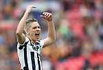Millwall's Steve Morison celebrates his goal during the League One Play-Off Final match at Wembley Stadium, London. Picture date: May 20th, 2017. Pic credit should read: David Klein/Sportimage