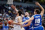 Kosarka-Basketball<br /> Srbija v Grcka-Prijateljski Mec<br /> Milos Teodosic (L) and Dimitris Agravanis<br /> Beograd, 28.06.2016.<br /> foto: Srdjan Stevanovic/Starsportphoto &copy;