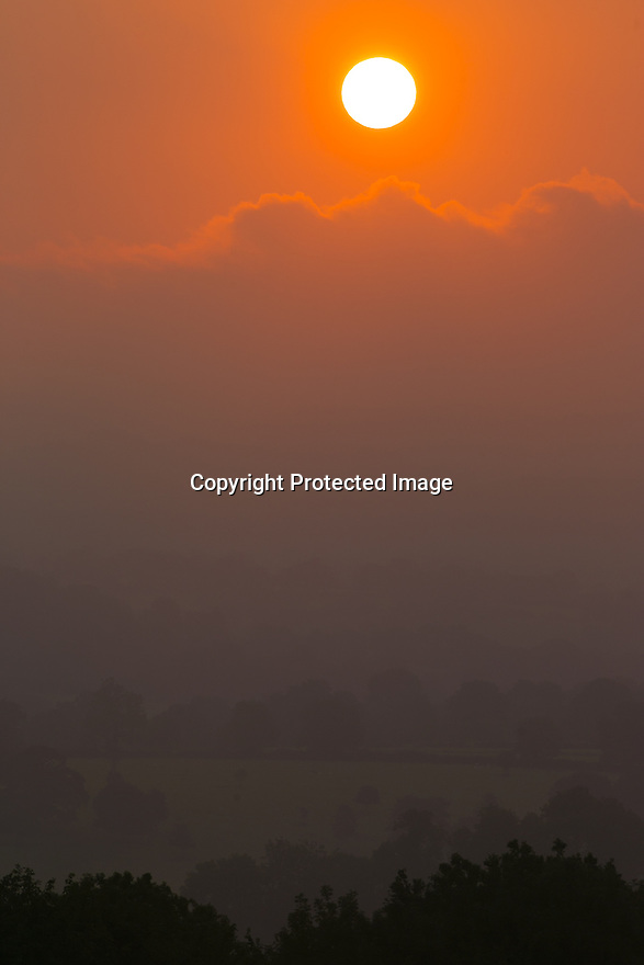 11/09/15<br /> <br /> The sun rises through the mist over Alsop en le Dale, near Ashbourne, in the Derbyshire Peak District.<br /> <br /> All Rights Reserved: F Stop Press Ltd. +44(0)1335 418365   www.fstoppress.com.