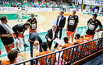 S&ouml;dert&auml;lje 2015-01-17 Basket Basketligan S&ouml;dert&auml;lje Kings - Bor&aring;s Basket :  <br /> Bor&aring;s head coach Patrick Pat Ryan i aktion under en timeout under matchen mellan S&ouml;dert&auml;lje Kings och Bor&aring;s Basket <br /> (Foto: Kenta J&ouml;nsson) Nyckelord:  Basket Basketligan S&ouml;dert&auml;lje Kings SBBK T&auml;ljehallen Bor&aring;s tr&auml;nare manager coach diskutera argumentera diskussion argumentation argument discuss timeout