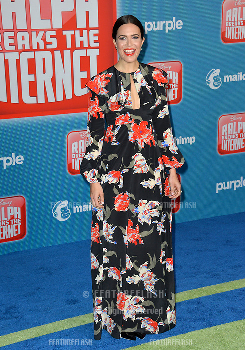 LOS ANGELES, CA. November 05, 2018: Mandy Moore at the world premiere of &quot;Ralph Breaks The Internet&quot; at the El Capitan Theatre.<br /> Picture: Paul Smith/Featureflash
