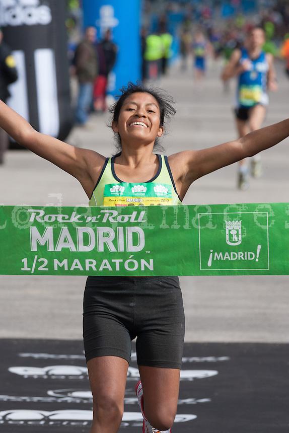 Mercedes Pila Viracocha, Winner of 1/2 Marathon female category