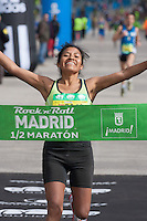 Mercedes Pila Viracocha, Winner of 1/2 Marathon female category