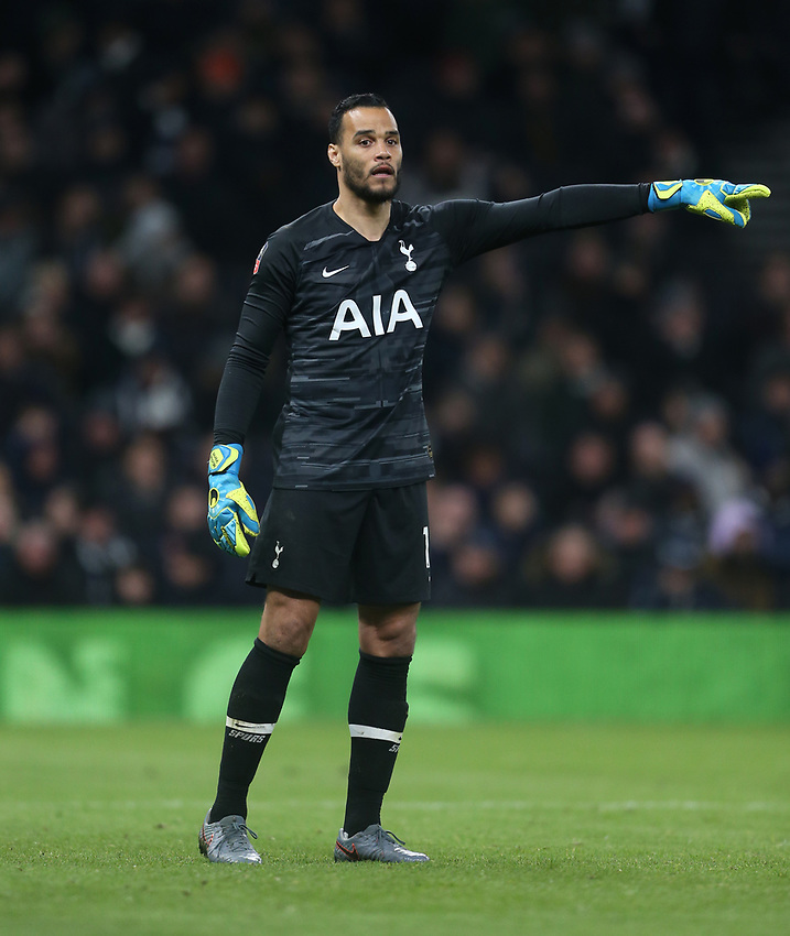 Tottenham Hotspur's Michel Vorm<br /> <br /> Photographer Rob Newell/CameraSport<br /> <br /> The Emirates FA Cup Fifth Round - Tottenham Hotspur v Norwich City - Wednesday 4th March 2020 - Tottenham Hotspur Stadium - London<br />  <br /> World Copyright © 2020 CameraSport. All rights reserved. 43 Linden Ave. Countesthorpe. Leicester. England. LE8 5PG - Tel: +44 (0) 116 277 4147 - admin@camerasport.com - www.camerasport.com