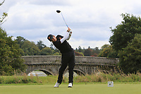 Angel Hidalgo of Team Spain on the 1st tee during Round 3 of the WATC 2018 - Eisenhower Trophy at Carton House, Maynooth, Co. Kildare on Friday 7th September 2018.<br /> Picture:  Thos Caffrey / www.golffile.ie<br /> <br /> All photo usage must carry mandatory copyright credit (&copy; Golffile | Thos Caffrey)