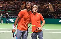Rotterdam, The Netherlands, 12 Februari 2019, ABNAMRO World Tennis Tournament, Ahoy, first round singles: David Goffen (BEL) - Gael Monfils (FRA)<br /> Photo: www.tennisimages.com/Henk Koster