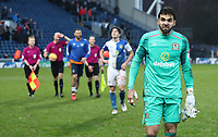Blackburn Rovers' David Raya at the end of todays match<br /> <br /> Photographer Rachel Holborn/CameraSport<br /> <br /> The EFL Sky Bet League One - Blackburn Rovers v Oldham Athletic - Saturday 10th February 2018 - Ewood Park - Blackburn<br /> <br /> World Copyright &copy; 2018 CameraSport. All rights reserved. 43 Linden Ave. Countesthorpe. Leicester. England. LE8 5PG - Tel: +44 (0) 116 277 4147 - admin@camerasport.com - www.camerasport.com