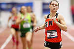 NAPERVILLE, IL - MARCH 11: Emily Richards of Ohio Northern leads in the women's 800 meter run at the Division III Men's and Women's Indoor Track and Field Championship held at the Res/Rec Center on the North Central College campus on March 11, 2017 in Naperville, Illinois. (Photo by Steve Woltmann/NCAA Photos via Getty Images)