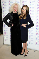 Debbie and Lydia Bright arriving at James' Jog On To Cancer Event, Kensington Roof Gardens, London. 09/04/2014 Picture by: Alexandra Glen / Featureflash