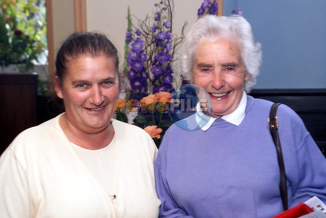 Bridie Corrigan and Tessy Heavey, Dunany at the flower exhibition in Dunany Church..Picture Paul Mohan Newsfile