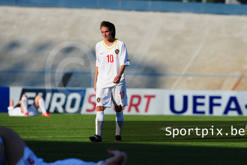 European Women's Under - 19 Championship 2011 Italy : Russia - Belgium U19 : Tessa Wullaert ontgoocheld.foto DAVID CATRY / VROUWENTEAM.BE