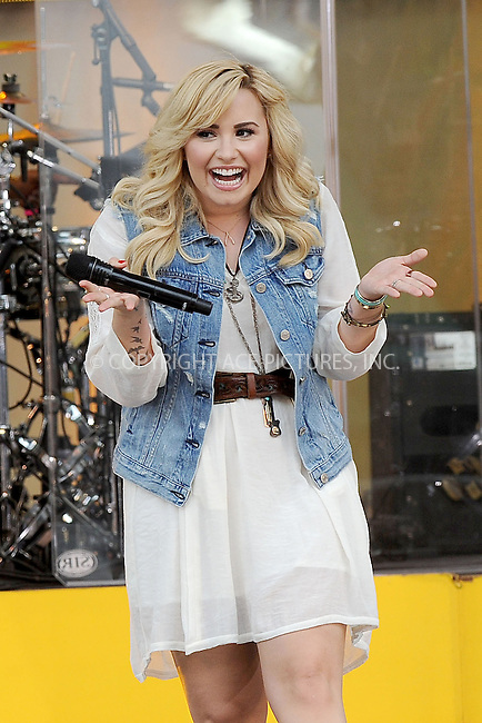 WWW.ACEPIXS.COM . . . . . <br /> June 28, 2013...New York City<br /> <br /> Demi Lovato performs on ABC's 'Good Morning America' at Rumsey Playfield, Central Park on June 28, 2013 in New York City.<br /> <br /> Please byline: Kristin Callahan - ACEPIXS.COM.. . . . . . ..Ace Pictures, Inc: ..tel: (212) 243 8787 or (646) 769 0430..e-mail: info@acepixs.com..web: http://www.acepixs.com