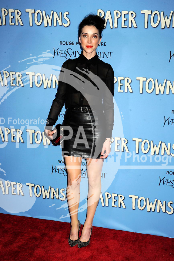 Annie Clark attending the 'Paper Towns' premiere at AMC Loews Lincoln Square on July 21, 2015 in New York Cit