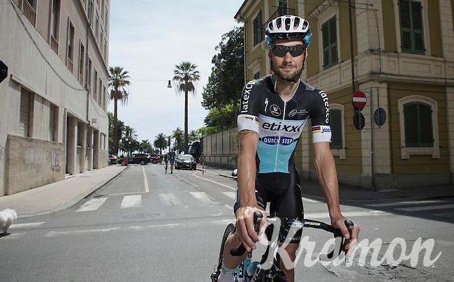 Tom Boonen (BEL/Etixx-QuickStep) in the morning<br /> <br /> 2015 Giro<br /> stage 5: La Spezia - Abetone (152km)