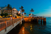 Sunset celebration, Mallory Square, Key West, Florida Keys, Florida USA