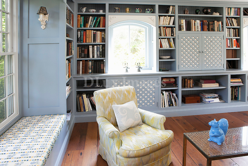 light blue wall bookcase